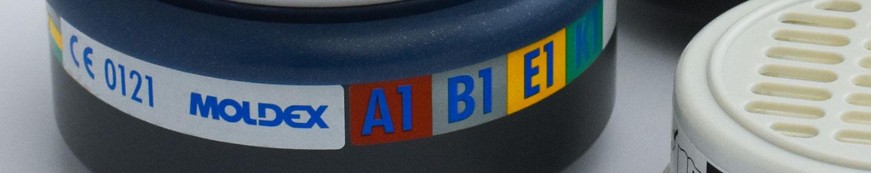 Filterbussen voor een volgelaatsmasker of halfgelaatsmasker van IMG Europe